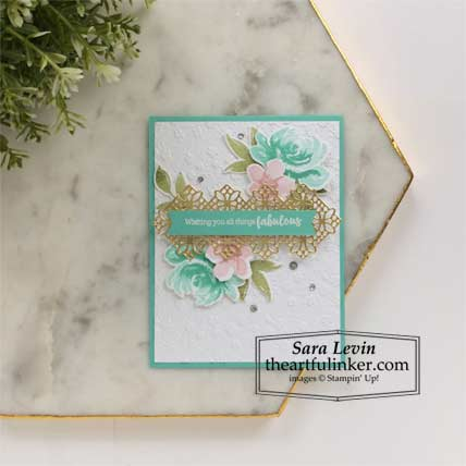 All Things Fabulous card Stampin' Up! TUTORIAL – Click for details – SHOP- ORDER STAMPIN' UP! PRODUCTS ONLINE. Purchase the $99 Starter Kit & enjoy a 20% discount! Tons of paper crafting ideas & FREE Online Classes theartfulinker.com