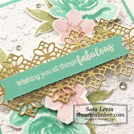 All Things Fabulous card sentiment detail Stampin' Up! TUTORIAL – Click for details – SHOP- ORDER STAMPIN' UP! PRODUCTS ONLINE. Purchase the $99 Starter Kit & enjoy a 20% discount! Tons of paper crafting ideas & FREE Online Classes theartfulinker.com