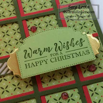 Learn how to make this Christmas card with the Best Year bundle - sentiment detail and Heartwarming Hugs designer paper by Stampin' Up! VIDEO TUTORIAL – Click for details – SHOP- ORDER STAMPIN' UP! PRODUCTS ONLINE. Purchase the $99 Starter Kit & enjoy a 20% discount! Tons of paper crafting ideas & FREE Online Classes theartfulinker.com