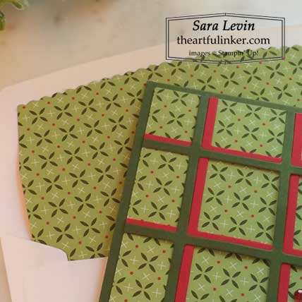 Learn how to easily line your envelopes for your handmade Christmas card with the Best Year bundle and Heartwarming Hugs designer paper by Stampin' Up! VIDEO TUTORIAL – Click for details – SHOP- ORDER STAMPIN' UP! PRODUCTS ONLINE. Purchase the $99 Starter Kit & enjoy a 20% discount! Tons of paper crafting ideas & FREE Online Classes theartfulinker.com