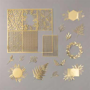 Forever Gold Laser Cut paper 152493 for your handmade greeting cards Shop Stampin Up with Sara Levin theartfulinker