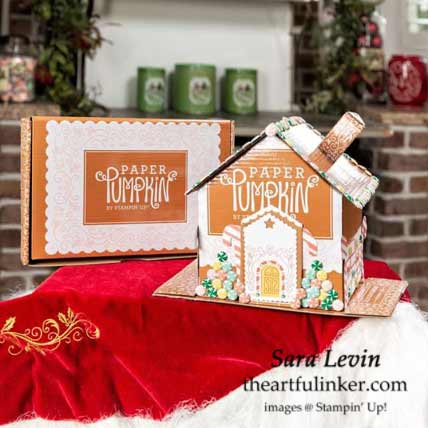Jolly Gingerbread November 2020 Paper Pumpkin Gingerbread House Subscribe with Sara Levin theartfulinker