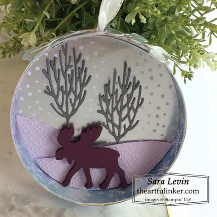 Learn how to make this Christmas tree Ornament with the Merry Moose and Snowflake Splendor designer paper by Stampin' Up! TUTORIAL – Click for details – SHOP- ORDER STAMPIN' UP! PRODUCTS ONLINE. Purchase the $99 Starter Kit & enjoy a 20% discount! Tons of paper crafting ideas & FREE Online Classes theartfulinker.com