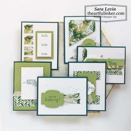 6 x 6 One Sheet Wonder Forever Greenery and Best Year 6 Cards Stampin' Up! VIDEO TUTORIAL – Click for details – SHOP- ORDER STAMPIN' UP! PRODUCTS ONLINE. Purchase the $99 Starter Kit & enjoy a 20% discount! Tons of paper crafting ideas & FREE Online Classes theartfulinker.com