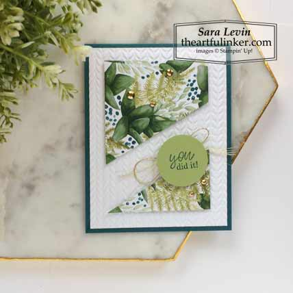 6 x 6 One Sheet Wonder Forever Greenery and Best Year Card 1 Stampin' Up! VIDEO TUTORIAL – Click for details – SHOP- ORDER STAMPIN' UP! PRODUCTS ONLINE. Purchase the $99 Starter Kit & enjoy a 20% discount! Tons of paper crafting ideas & FREE Online Classes theartfulinker.com