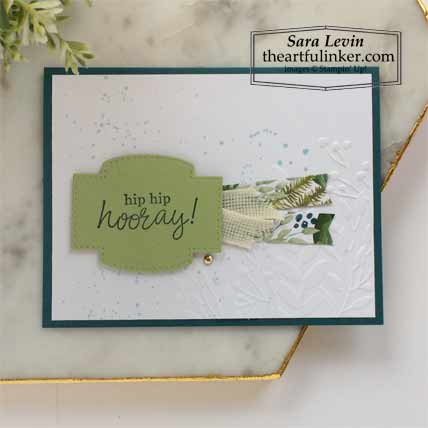 6 x 6 One Sheet Wonder Forever Greenery and Best Year Card 2 Stampin' Up! VIDEO TUTORIAL – Click for details – SHOP- ORDER STAMPIN' UP! PRODUCTS ONLINE. Purchase the $99 Starter Kit & enjoy a 20% discount! Tons of paper crafting ideas & FREE Online Classes theartfulinker.com