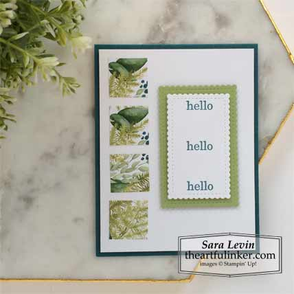 6 x 6 One Sheet Wonder Forever Greenery and Best Year Card 4 Stampin' Up! VIDEO TUTORIAL – Click for details – SHOP- ORDER STAMPIN' UP! PRODUCTS ONLINE. Purchase the $99 Starter Kit & enjoy a 20% discount! Tons of paper crafting ideas & FREE Online Classes theartfulinker.com