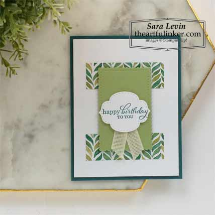 6 x 6 One Sheet Wonder Forever Greenery and Best Year Card 5 Stampin' Up! VIDEO TUTORIAL – Click for details – SHOP- ORDER STAMPIN' UP! PRODUCTS ONLINE. Purchase the $99 Starter Kit & enjoy a 20% discount! Tons of paper crafting ideas & FREE Online Classes theartfulinker.com
