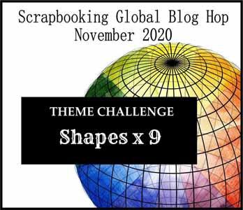 Scrapbooking Global Blog Hop November 2020 scrapbook layout theme