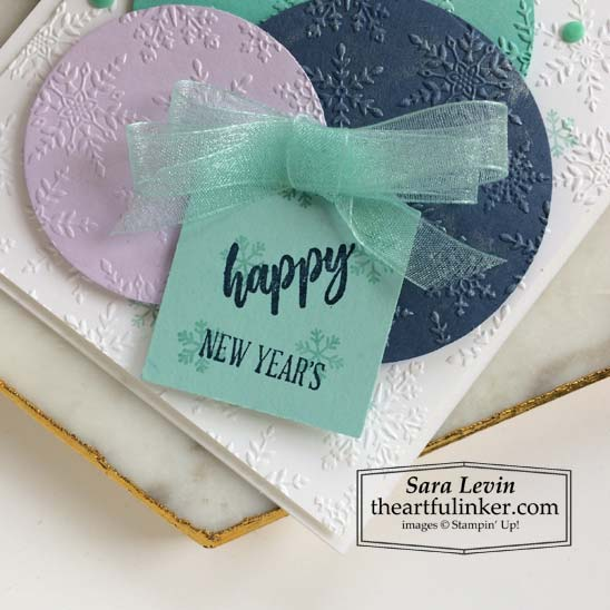 A Wish For Everything New Year's Card with Essential Tag Punch sentiment Stampin' Up! VIDEO TUTORIAL – Click for details – SHOP- ORDER STAMPIN' UP! PRODUCTS ONLINE. Purchase the $99 Starter Kit & enjoy a 20% discount! Tons of paper crafting ideas & FREE Online Classes theartfulinker.com
