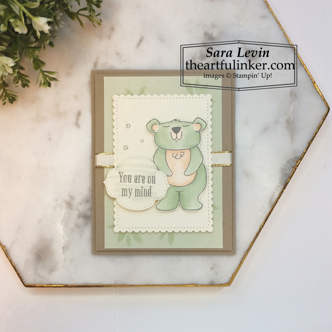 Beary Comforting December 2020 Paper Pumpkin alternative card Stampin' Up! VIDEO TUTORIAL – Click for details – SHOP- ORDER STAMPIN' UP! PRODUCTS ONLINE. Purchase the $99 Starter Kit & enjoy a 20% discount! Tons of paper crafting ideas & FREE Online Classes theartfulinker.com