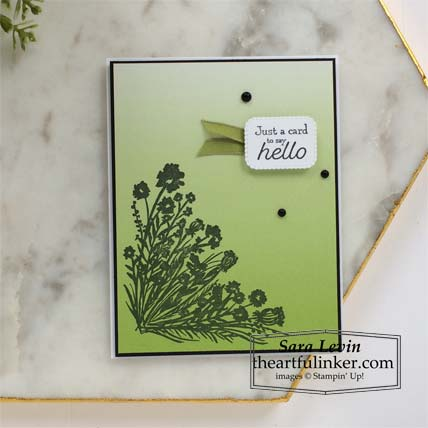 Corner Bouquet with Oh So Ombre designer paper Stampin' Up! VIDEO TUTORIAL – Click for details – SHOP- ORDER STAMPIN' UP! PRODUCTS ONLINE. Purchase the $99 Starter Kit & enjoy a 20% discount! Tons of paper crafting ideas & FREE Online Classes theartfulinker.com