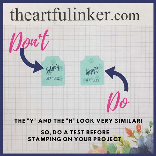 Tip for stamping the A Wish For Everything sentiment for the New Year's Card Stampin' Up! VIDEO TUTORIAL – Click for details – SHOP- ORDER STAMPIN' UP! PRODUCTS ONLINE. Purchase the $99 Starter Kit & enjoy a 20% discount! Tons of paper crafting ideas & FREE Online Classes theartfulinker.com