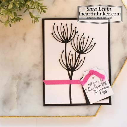 Dragonfly Garden Black and White with a Pop of Color card Stampin' Up! Click for details – SHOP- ORDER STAMPIN' UP! PRODUCTS ONLINE. Purchase the $99 Starter Kit & enjoy a 20% discount! Tons of paper crafting ideas & FREE Online Classes theartfulinker.com