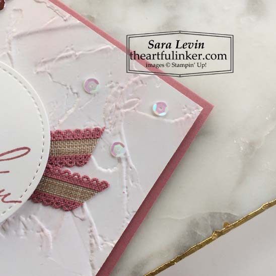 Heal Your Heart thank you card with Painted Texture Embossing detail Stampin' Up! VIDEO TUTORIAL – Click for details – SHOP- ORDER STAMPIN' UP! PRODUCTS ONLINE. Purchase the $99 Starter Kit & enjoy a 20% discount! Tons of paper crafting ideas & FREE Online Classes theartfulinker.com
