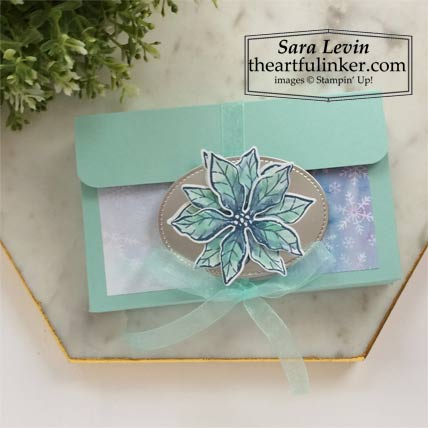 Poinsettia Petals Sock Box Stampin' Up! VIDEO TUTORIAL – Click for details – SHOP- ORDER STAMPIN' UP! PRODUCTS ONLINE. Purchase the $99 Starter Kit & enjoy a 20% discount! Tons of paper crafting ideas & FREE Online Classes theartfulinker.com