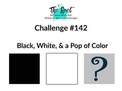 The Spot Creative Challeng Black and White with a Pop of Color