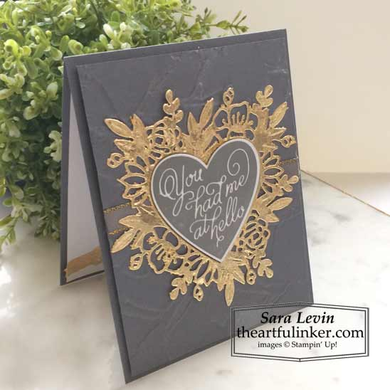 Always in My Heart Masculine Valentine's Day card standing Stampin' Up! VIDEO TUTORIAL – Click for details – SHOP- ORDER STAMPIN' UP! PRODUCTS ONLINE. Purchase the $99 Starter Kit & enjoy a 20% discount! Tons of paper crafting ideas & FREE Online Classes theartfulinker.com