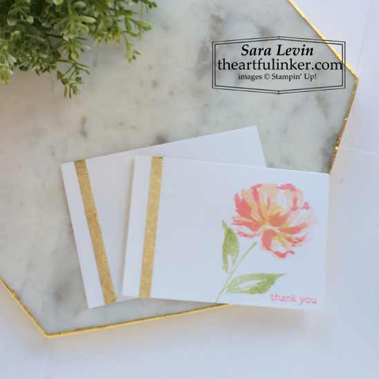 Simple stamping Art Gallery with Gilded Leafing card for Stamping Sunday Blog Hop Stampin' Up! VIDEO TUTORIAL – Click for details – SHOP- ORDER STAMPIN' UP! PRODUCTS ONLINE. Purchase the $99 Starter Kit & enjoy a 20% discount! Tons of paper crafting ideas & FREE Online Classes theartfulinker.com