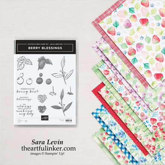Berry Blessings Bundle Sale a Bration product Shop for Stampin Up in the US with Sara Levin theartfulinker.com