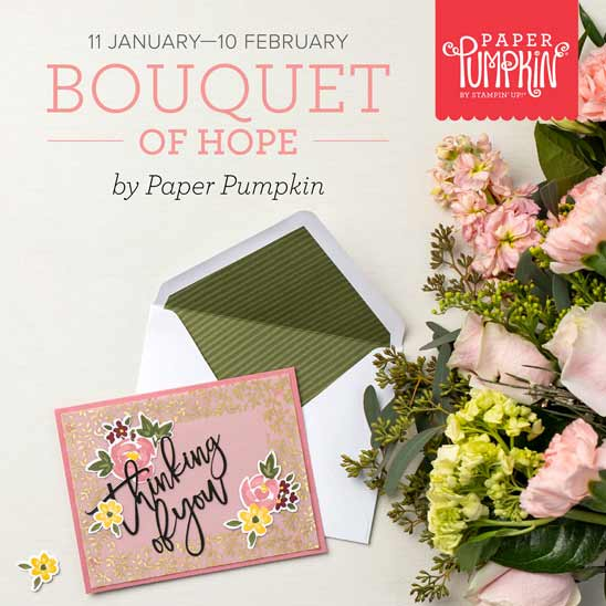 Bouquet of Hope February 2021 Paper Pumpkin subscribe by February 10 with Sara Levin theartfulinker.com