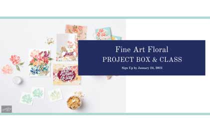 Fine Art Floral Online Class and Project Box from theartfulinker.com