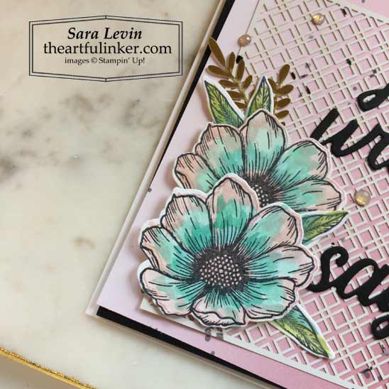 Forever and Always card watercolor flowers detail Stampin' Up! VIDEO TUTORIAL – Click for details – SHOP- ORDER STAMPIN' UP! PRODUCTS ONLINE. Purchase the $99 Starter Kit & enjoy a 20% discount! Tons of paper crafting ideas & FREE Online Classes theartfulinker.com