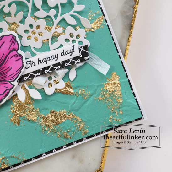 Forever and Always card with marbled background with Many Messages sentiment Stampin' Up! VIDEO TUTORIAL – Click for details – SHOP- ORDER STAMPIN' UP! PRODUCTS ONLINE. Purchase the $99 Starter Kit & enjoy a 20% discount! Tons of paper crafting ideas & FREE Online Classes theartfulinker.com