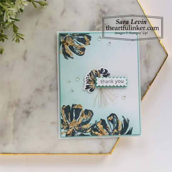 Gilded AStampin' Up! VIDEO TUTORIAL – Click for details – SHOP- ORDER STAMPIN' UP! PRODUCTS ONLINE. Purchase the $99 Starter Kit & enjoy a 20% discount! Tons of paper crafting ideas & FREE Online Classes theartfulinker.comrt Gallery Card