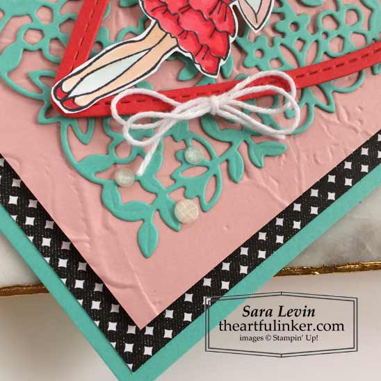 Hey Girlfriend Valentines Day card with Painted 3D embossing detail for OSAT Blog Hop Say Hello To Stampin' Up! VIDEO TUTORIAL – Click for details – SHOP- ORDER STAMPIN' UP! PRODUCTS ONLINE. Purchase the $99 Starter Kit & enjoy a 20% discount! Tons of paper crafting ideas & FREE Online Classes theartfulinker.com