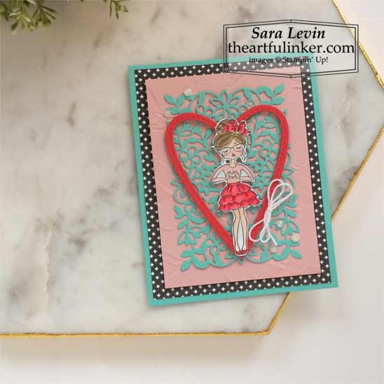 Hey Girlfriend Valentines Day card for OSAT Blog Hop Say Hello To Stampin' Up! VIDEO TUTORIAL – Click for details – SHOP- ORDER STAMPIN' UP! PRODUCTS ONLINE. Purchase the $99 Starter Kit & enjoy a 20% discount! Tons of paper crafting ideas & FREE Online Classes theartfulinker.com