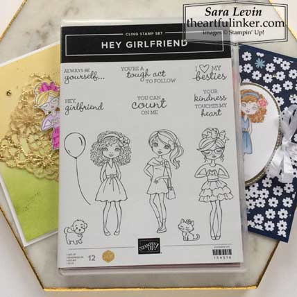 Hey Girlfriend cards and stamp set Stampin' Up! VIDEO TUTORIAL – Click for details – SHOP- ORDER STAMPIN' UP! PRODUCTS ONLINE. Purchase the $99 Starter Kit & enjoy a 20% discount! Tons of paper crafting ideas & FREE Online Classes theartfulinker.com