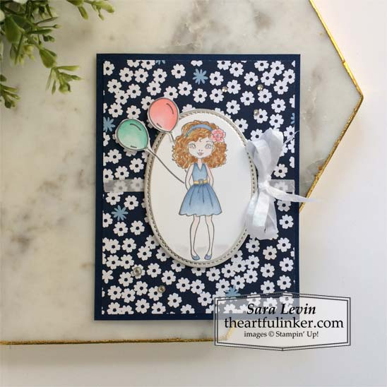Hey Girlfriend with Paper Blooms birthday card Stampin' Up! VIDEO TUTORIAL – Click for details – SHOP- ORDER STAMPIN' UP! PRODUCTS ONLINE. Purchase the $99 Starter Kit & enjoy a 20% discount! Tons of paper crafting ideas & FREE Online Classes theartfulinker.com