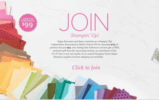 Join Stampin Up during Sale a Bration Sara Levin theartfulinker.com
