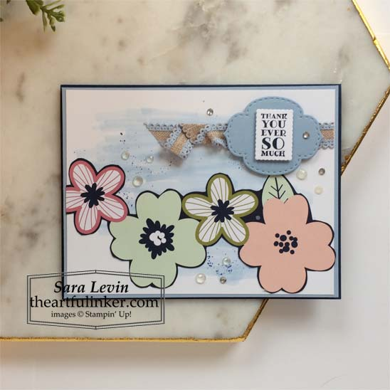 Paper Blooms Many Messages card for Stamping Sunday Blog Hop Stampin' Up! VIDEO TUTORIAL – Click for details – SHOP- ORDER STAMPIN' UP! PRODUCTS ONLINE. Purchase the $99 Starter Kit & enjoy a 20% discount! Tons of paper crafting ideas & FREE Online Classes theartfulinker.com