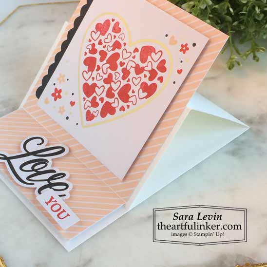 Sending Hearts January 2021 Paper Pumpkin alternate 1 side view Stampin' Up! VIDEO TUTORIAL – Click for details – SHOP- ORDER STAMPIN' UP! PRODUCTS ONLINE. Purchase the $99 Starter Kit & enjoy a 20% discount! Tons of paper crafting ideas & FREE Online Classes theartfulinker.com