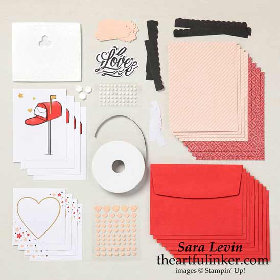 January 2021 Paper Pumpkin Refill for Sending Hearts Kit Subscribe to Paper Pumpkin with Sara Levin at theartfulinker.com