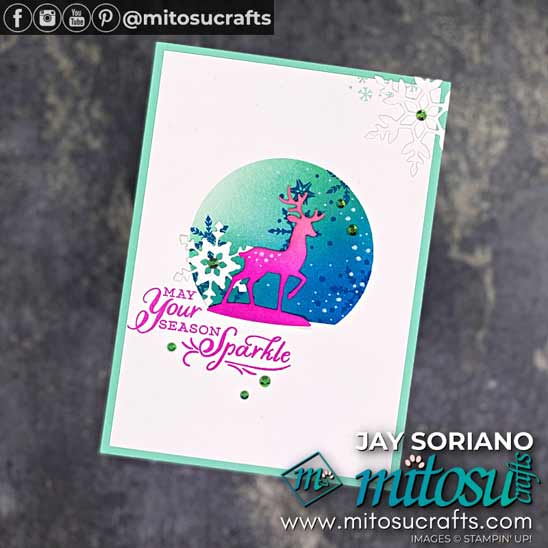 Snowflake Wishes card by Jay Soriano Shop for Stampin Up in the US with Sara Levin theartfulinker.com