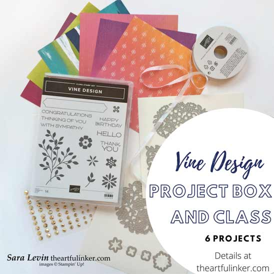 Vine Design Project Box and Online Class with Sara Levin at theartfulinker.com