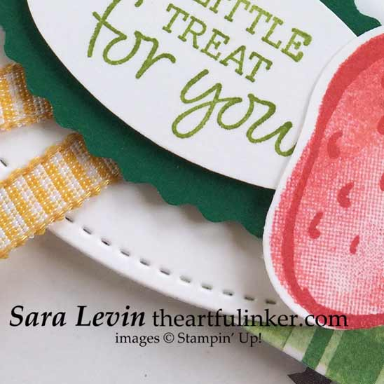 Sneak peek of Oval Occasions Sweet Strawberry Gift for a customer from Sara Levin theartfulinker Shop for Stampin Up in the US