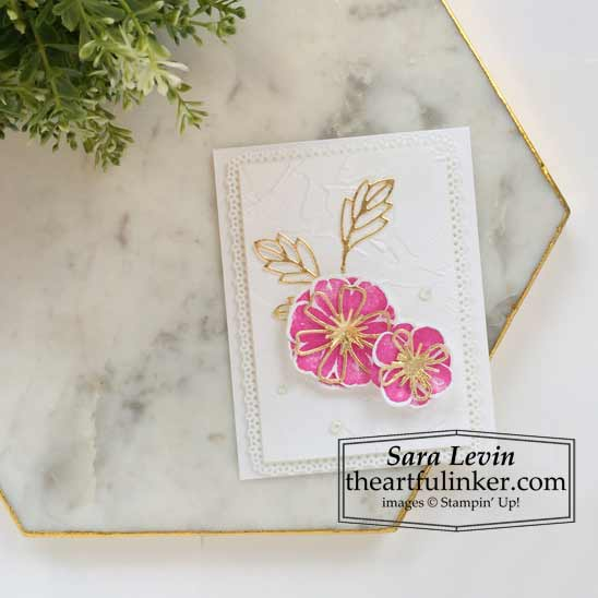 Pretty Perennials clean and simple card for Stamping Sunday blog hop Shop for Stampin Up products with Sara Levin theartfulinker.com