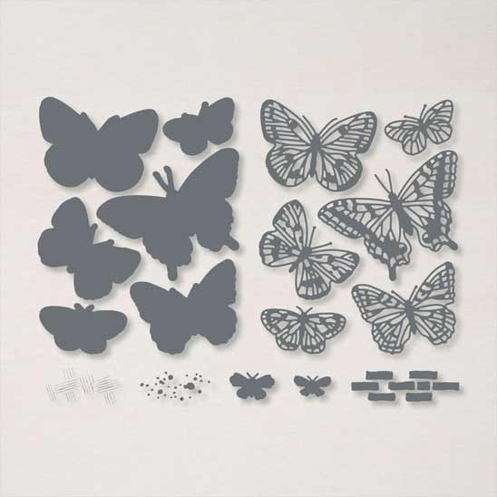 Brilliant Wings Dies to coordinate with Butterfly Brilliance stamp set from Stampin Up SHOP with Sara Levin theartfulinker.com in the US