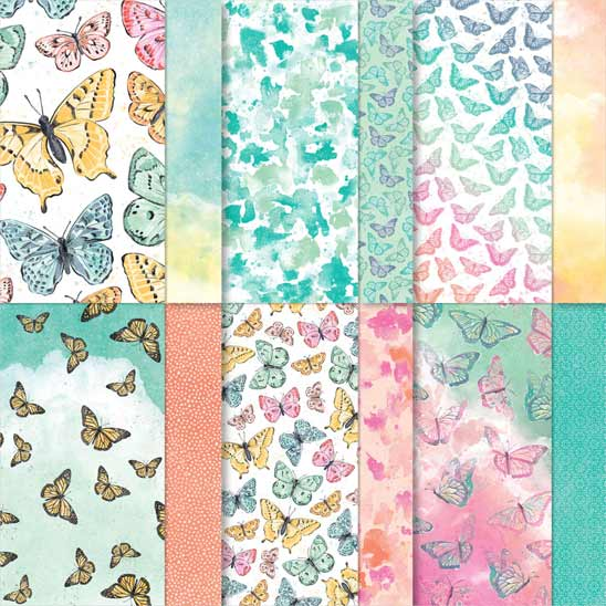 Butterfly Bijou designer paper from Stampin Up SHOP with Sara Levin theartfulinker.com in the US