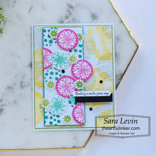 Circle Celebration Thinking of You card with Many Messages SHOP for Stampin Up in the US with Sara Levin theartfulinker.com