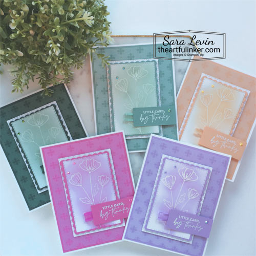 Flowers of Friendship cards in 5 new In Colors SHOP for Stampin Up in the US with Sara Levin theartfulinker.com