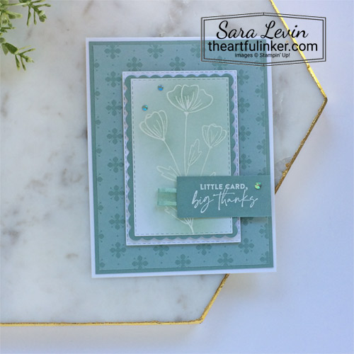 Flowers of Friendship In Color with Soft Succulent SHOP for Stampin Up in the US with Sara Levin theartfulinker.com
