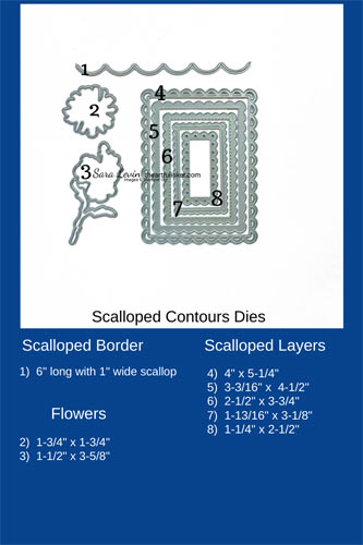 Scalloped Contours Dies Size Chart SHOP for Stampin Up in the US with Sara Levin theartfulinker.com
