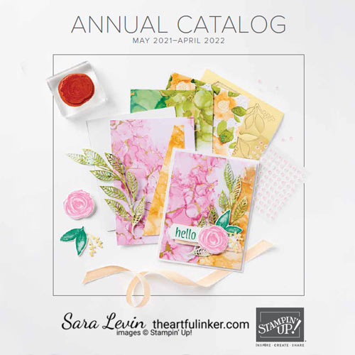 2021 Stampin' Up! Annual Catalog SHOP for Stampin Up with Sara Levin theartfulinker.com