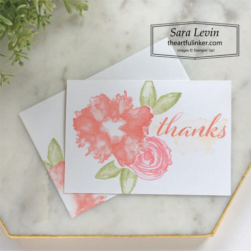 Artistically Inked simple stamping thank you card for Stamping Sunday Blog Hop Bundled Up SHOP for Stampin Up with Sara Levin theartfulinker.com