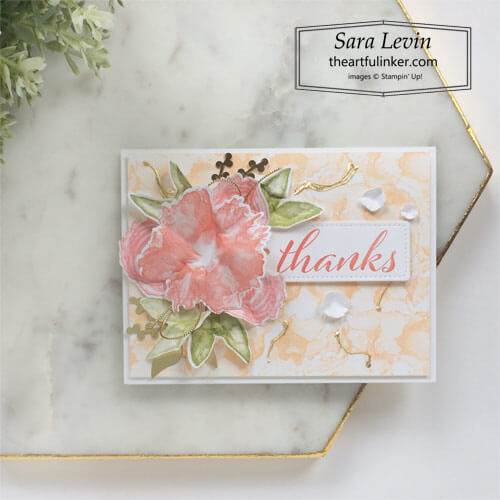 Artistically Inked thank you card for Stamping Sunday Blog Hop Bundled Up SHOP for Stampin Up with Sara Levin theartfulinker.com